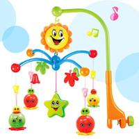 brinquedo da música dos sinos do bebê venda por atacado-Sino Cama De Bebê Recém-nascidos Música Luz Sino Girando Camas Remoto 0-1 Ano de Idade Pingente De Cabeceira Educação Infantil Brinquedos 26 h J R