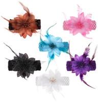 ingrosso bei accessori della neonata-Neonate Elastico Moda Hairband Fiore Bambini Copricapo Bambini Accessori per capelli Ragazze Belle Copricapo