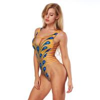 Wholesale cut black swimwear online - High Cut Brazilian Sexy Thong Monokini Swimsuit Women One Piece Swim Suit African Swimwear Female Swimming Suit Bandage Bikini