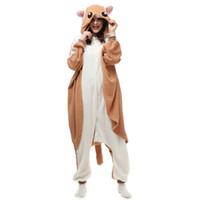 damla gemi kostümleri toptan satış-Şeker Planör Sıçan kadın ve erkek Hayvan Kigurumi Polar Polar Kostüm Cadılar Bayramı Karnaval Yeni Yıl Partisi için karşılama Drop Shipping