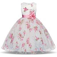 ingrosso usura del partito vestiti per anno le ragazze-Fancy Flower Girl Dresses For Wedding Baby Girls Party Kids Wear Elegante abito rosa per ragazza 4 6 8 anni Compleanno Abiti estivi per bambini