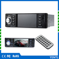 Wholesale multimedia audio video player - Free shipping LCD Display Audio Video PIn-Dash MP5 Car Player 1 Din 4.1 Inch Car Video Multimedia Player FM Radio MP3 MP4 DVD USB SD AUX