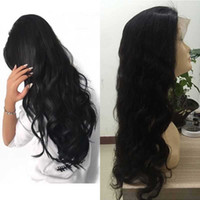 Wholesale real human hair wigs online - Body Wave Frontal Lace Wigs Pre Plucked Natural Hairline Density Real Peruvian Human Hair Wigs for Women Natural Color Can Be Dyed