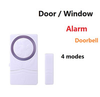 Wholesale magnetic window alarms wholesale - Wireless Door Window Entry Burglar Alarm System doorbell Security Guardian Protector Electronic magnetic sensor switch detects Entry