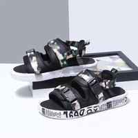 ingrosso scarpe di filati-Designer pantofole sandalo spesso fondo donna estate moto scarpe mesh traspirante filato ragazze open toe sandali casual vendita calda 26ps bb