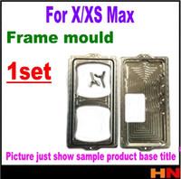iphone ekran kalıpları toptan satış-1 takım için En Kaliteli Çerçeve kalıp iphone X XS MAX cam çerçeve için soğuk tutkal tutma kalıp iPhone x Ekran çerçeve Adanmış