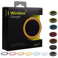 Wholesale cell phone charging pads for sale – best 30pcs Colorful S6 Qi Wireless Charger Pad Cell phone Mini Charge Pad For Qi abled device Samsung nokia htc LG cellphone with retail package