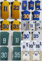 Wholesale green flash games - New Game Jersey 11 Klay Thompson 23 Draymond Green 9 Andre Iguodala 30 35 Blue White Hardwood Classic Green The City Yellow Embroidery