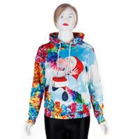 Wholesale cosplay women tiger online - 2019 Dusk Sky Fashion Women Hoodies Women Tiger Printed Pullovers Long Sleeve Sweatshirts Loose Women Sweatshirts cosplay costume designer