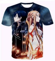 ingrosso mens stampate magliette in linea-All'ingrosso-Newest Moda Uomo / Donna Summer Style Anime Sword Art Online Divertente 3D Stampa Casual T-Shirt DXR00136