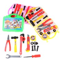 Wholesale sales role play - New 13Pcs Set Pretend Role Play Home Simulation Repair Tools with Suitcase Kids Educational Toy Hot Sale