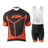 equipo de la bici del camino al por mayor-Equipo KTM 2018 nuevos pantalones cortos de ciclismo de manga corta (babero) conjunto Ropa Ciclismo Mejor venta de ropa de bicicleta transpirable MTB ropa de bicicleta de carretera