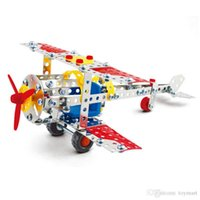 Wholesale plane models kit - 3D Assembly Metal Model Kits Toy World War II Plane Building Puzzles 190pcs Accessories Construction Play Set