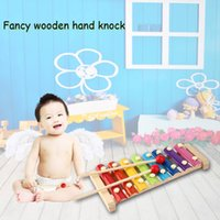 Wholesale knock wood toys resale online - Hand Knock Wood Piano Kids Toy Xylophone Music Rhythm Learnin In Advance New Arriva Hight Quality