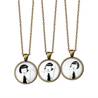 Wholesale glass easter ornament - Han Of Yet New Pattern Ornaments European Fashion Girl Necklace Restore Ancient Ways Originality Alloy Pendant Necklace Three-piece