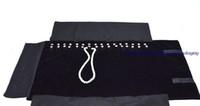 bolsa de rollo de exhibición de joyas al por mayor-Promoción Esquina de Metal Negro Terciopelo Colgante Exhibición de la joyería Bolsa de almacenamiento Collar Organizador de la joyería Bolsa de viaje Roll 29 * 10 cm