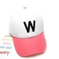 Wholesale Girl Spells - Korean version of the baby cap tide boys and girls visor baseball hat hip hop cap children spell color letters embroidery skull hat