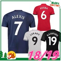 Wholesale United Soccer Shirt - 2018 2019 ALEXIS POGBA LUKAKU MKHITARYAN RASHFORD Soccer Jersey United SCHWEINSTEIGER MEMPHIS MATA 18 19 ANDER HERRERA Sports football shirt