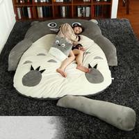 totoro bed оптовых-Японское аниме тоторо плюшевый погремушка мультфильм кошка кровать татами матрас милый детский спальный мешок для взрослых и детей подарок