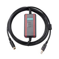 programación usb c al por mayor-Línea de datos de programación PLC Mitsubishi cable Serie FX cable de comunicación PLC USB-SC09-FX + soporte WIN7 (32/64 bit) / XP / VISTA aislamiento FTDI c