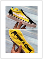 Wholesale light blue skateboard - 2018 New Revenge X Storm Old Skool Canvas Designer Sneakers Womens Men Low Cut Skateboard Yellow Red Blue White Black Casual Shoes