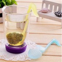 Wholesale plastic music notes - Music Note Strainers Tea Strainers Teaspoon Infuser Filter Spoon Home New style Convenience Tea Strainers Tea Tools T2I265