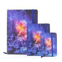 cadernos de arte venda por atacado-A5 A6 A7 Starry Night Star Notebook Art Journal Hardcover Planejador Semanal Escola Pequeno Papel Pardo Notebook Dokibook Papelaria