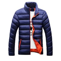 Wholesale Mens Leather Parka Coats - Winter jackets mens thicken wadded leather Coat Jaqueta Masculina winter jacket men stand Collar windbreaker Parka Coats