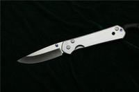 tactical survival knives venda por atacado-Chris Reeve Grande Sebenza 21 Titanium escovado Punho D2 lâmina de aço Dobrável Bolso Faca de acampamento Tático sobrevivência facas EDC ferramenta atacado