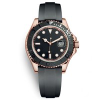 Wholesale big rose watches resale online - Mens Sport Watches YACHT Rubber Strap Runaway Wristwatch Rose Rold MASTER Automatic Movement Mechanical Mens Designer Big Dial mm