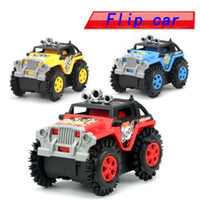 electric models science Australia - Electric Stunts Flip Toy Car New Children Cartoon Puzzle Toy Dump Truck 3-6 Years Old Car Model
