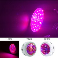 Wholesale 216w Led - 150W 216W 360W UFO LED Grow Light Full Spectrum LED Plant Grow Lamp for Indoor Medical Plants Veg Flowering Hydroponics