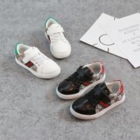 ingrosso mocassini per ragazze-2018 Nuovo marchio per bambini scarpe Moda ragazze scarpe di tela studente piatto bambini ragazzi mocassini scarpe da ginnastica bambino scarpe per bambini per lo sport