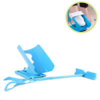 Wholesale used socks - Aid Kit Sock Helper Slider Comfortably Put On Take Off You Socks Easy To Use Blue kn C