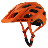 ingrosso le luci dei tappi di sicurezza-Casco da bicicletta Trail XC Casco da mountain bike con visiera fuoristrada AM Trail MTB Ciclismo In-Mold Light BMX Safety Cap