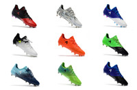 Wholesale Blackout Soccer Cleats - 2018 Mens soccer cleats ACE 17.1 Leather FG football boots ace 17-1 PureControl FG Men soccer shoes blackout 39-45