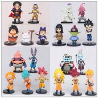 Wholesale desktop doll online - 20 Styles cm Dragon Ball Z Action Figures Toys Cartoon Goku Vegeta Siah Dolls Model Desktop Party Favor CCA10014 set