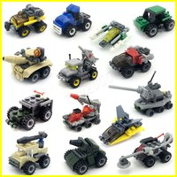 Wholesale kids building toys online - Block model car Open smart mini enlightenment puzzle small particle plastic assembly small building blocks kindergarten kids toys gift lepin