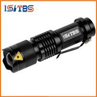 lanternas led aa venda por atacado-A lanterna elétrica do diodo emissor de luz do CREE Q5 mini conduziu o tampo da tocha do lanterna cree 2000 lumens a bateria recarregável impermeável 14500 OU AA
