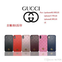 Wholesale iphone popular case - Popular brand embossed pattern mobile phone case iphone6 6S 7 7plus case iphone 8 8plus iphone X hard shell back cover