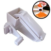 Wholesale ginger cooking - Hand Cranked Plastic Cheese Grater Rotary Ginger Garlic Slicer Chocolate Cheese Grater Home Kitchen Cooking Baking Accessories