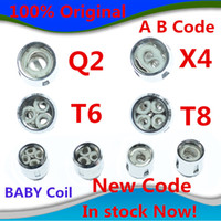 Wholesale head stock - 100% Authentic TFV8 BABY Beast Tank Coils Head V8 Baby-T8 T6 X4 M2 Q2 Core in stock now Free shipping with DHL