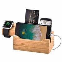 usb power charge iphone venda por atacado-Montagem nova da estação de carregamento do suporte CS3U3A do telemóvel com 3 portos de poder de USB para o relógio do iPhone