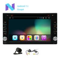 tv wifi auto al por mayor-Android 7.1 Reproductor de cd de DVD para automóvil Reproductor de cd de 2GB + 32GB Wifi Espejo en el tablero del automóvil Radio Auto video Bluetooth Cubierta para automóvil Navegación GPS MAPA