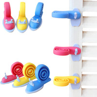 Wholesale baby gates door for sale - Snail Safety Revolving Door Stop Gates Baby Safety plastic Windproof Plug Fencing For Children Baby Gate Corner Protector FFA1182