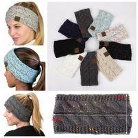 Wholesale wholesale sport beanie hats for sale - 9Colors CC Knitted Crochet Headband Women Winter Sports Headwrap Hairband Turban Head Band Ear Warmer Beanie Cap Headbands AAA836