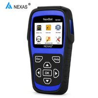 батареи bms для 24v оптовых-NEXAS NB380 12V/24V Car Battery Tester OBD OBD2 100-2000 CCA Charging System Tester Analyzer Automotive Scanner BMS Reset
