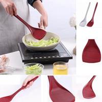 yemek tarayıcı toptan satış-Silikon Spatula Yapışmaz Tahıl Isıya Dayanıklı Pişirme Turner Pişirme Gereçler Mutfak Aletleri 2 Renkler AAA193