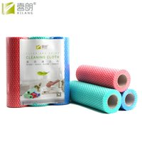 Wholesale Glasses Wipes Cloths - XILANG 25pcs Roll Non-woven Household Eco-friendly Cleaning Cloth 3 Color Kitchen Dishcloth Disposable Rags Wiping Bathroom Scouring Pad