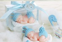 Wholesale Candle Baby - Children's party candle baby shower favor party gift--Sleep Baby Smokeless candle kids Cute birthday decoration 20pcs lot